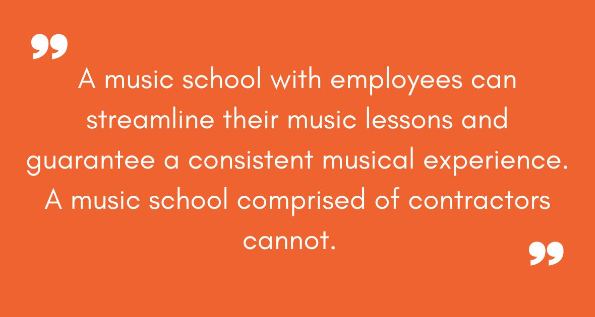 contractors for music instructors