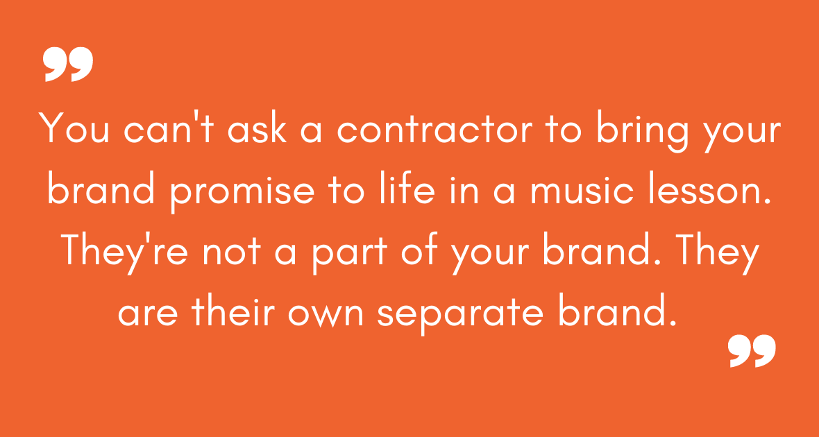 music instructors contractor or employee