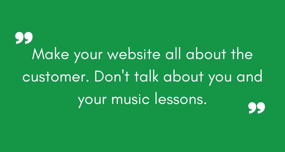 build a website for your music school